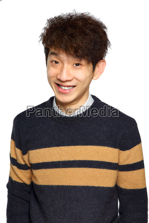 young asian man close up smile