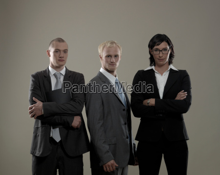 three business colleagues portrait