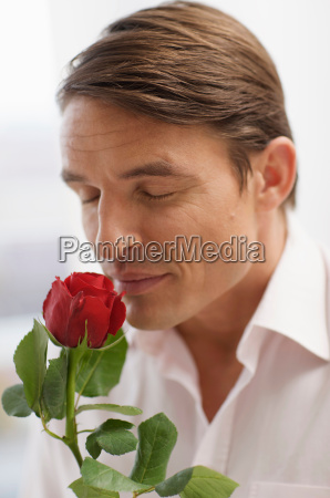 handsome man and the scent of