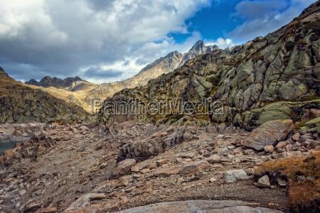 beautiful mountain lake in spain pyrenees