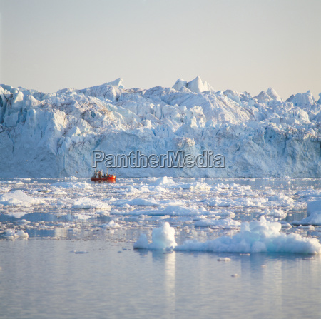 fishing boat in icy waters disko