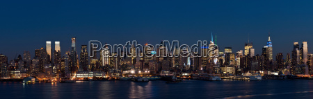 view from weehawken new jersey to