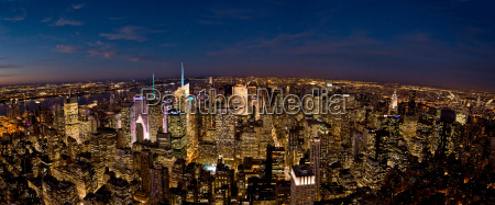 panoramic view from empire state building