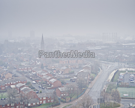 elevated view of salford quays salford