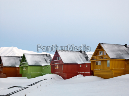 colourful houses line the streets of
