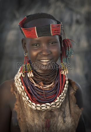 portrait of girl from karo tribe