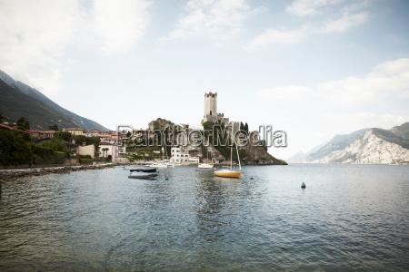scaliger castle on rocky coastline