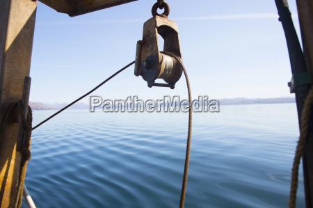 pulley on trawler isle of skye