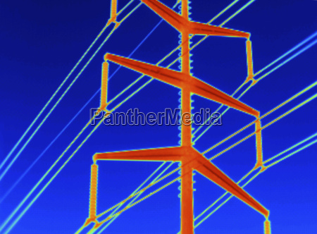 close up thermogram of electricity transmission