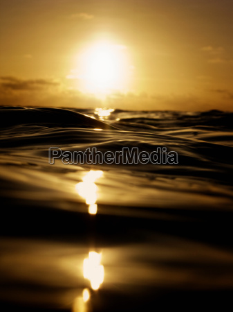 sunset over seascape