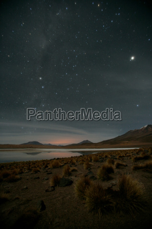 stars shine bright over altiplano bolivia