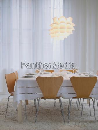 modern table setting for a dinner