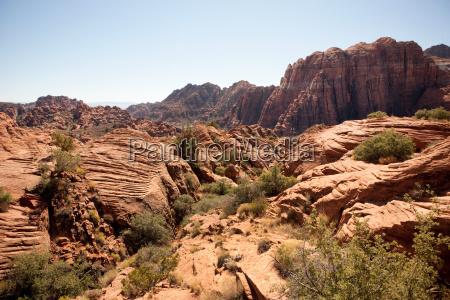 rocky landscape utah usa