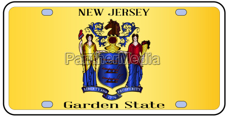 new jersey flag license plate