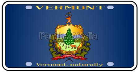 vermont license plate flag