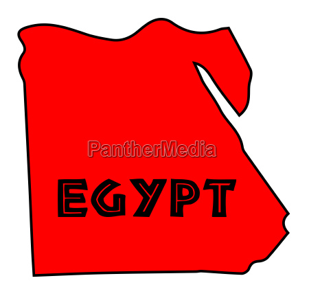 egypt red silhouette