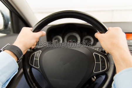 close up of young man driving