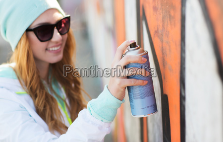 close up of woman with spray