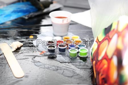 tattoo studio ink preparation