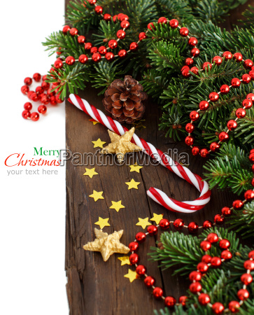festive decorations with candy cane