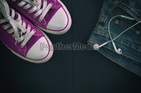 sports shoes and a fragment of