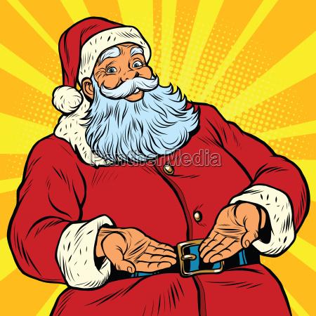 retro santa claus new year and