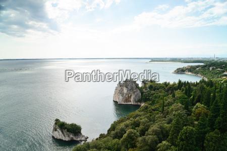 old duino castle and adriatic sea