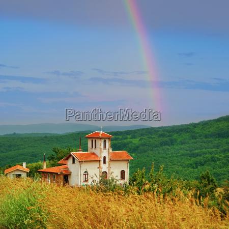 chapel on the hillside