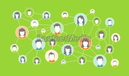 grafische darstellung social media netzwerk