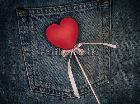 wooden figure of heart on the