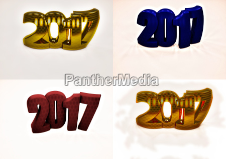 set of pictures new year 2017