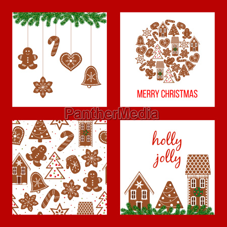 christmas set xmas theme in boarded