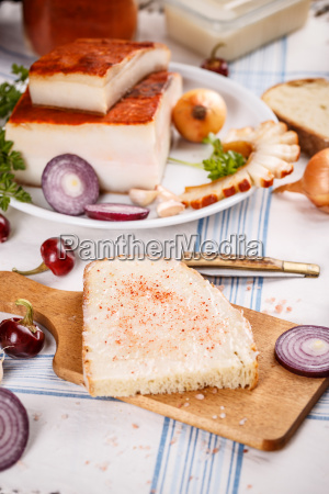 a slice of bread spread with
