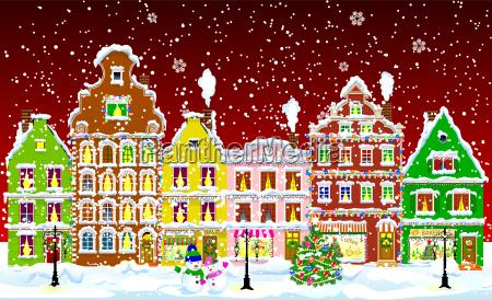 city on christmas night 1