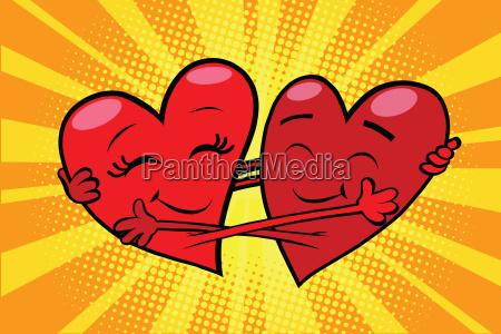 eternal love red hearts valentines