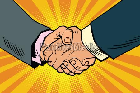 business handshake partnerschaft und teamarbeit