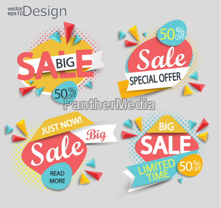 sale set of labels