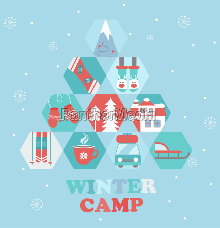 christmas holiday and travel themed camp