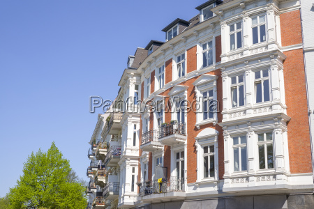 old style building in hamburg germany