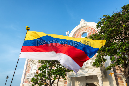 colombian flag in cartagena