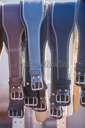 many leather belts