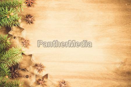 culinary background cutters for cookie anise