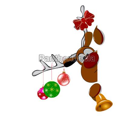 cute christmas reindeer rudolph 2