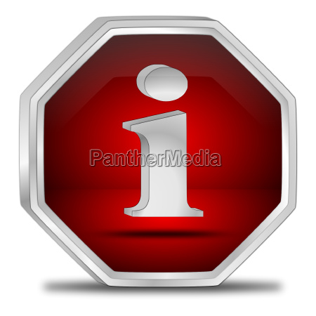 red information button 3d illustration