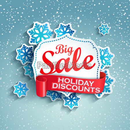 concept of holiday discount vector