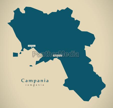 modern map campania it italy