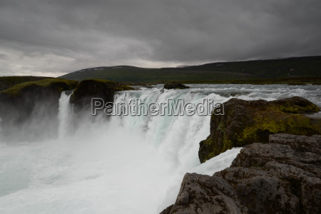 stream waterfall cascades iceland river water