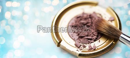 close up of makeup brush and