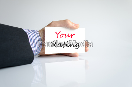 your rating text concept