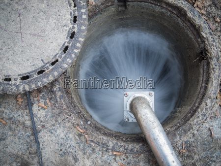 water in manhole